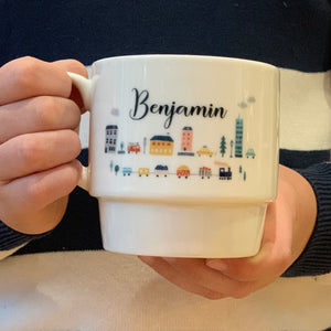 Luxury Bone China Town Landscape Mug