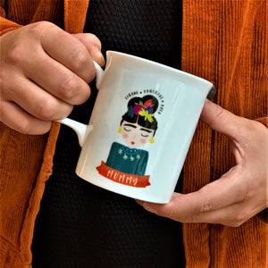 Bone China Motivational Frida Inspired Ceramic Mug