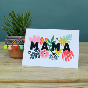 Vibrant Floral Mama Card
