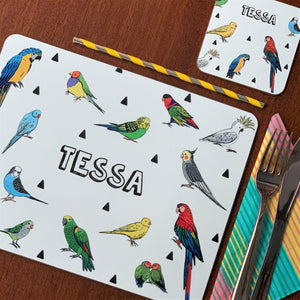 Parrots and Tropical Birds Placemat