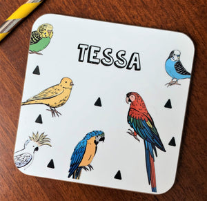 Parrot and Tropical Birds Coaster