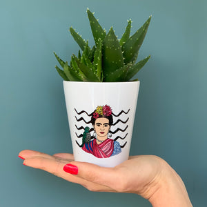 Frida Kahlo Ceramic Flower Pot