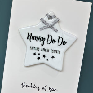 Luxury Memorial Thinking Of You Card With Keepsake