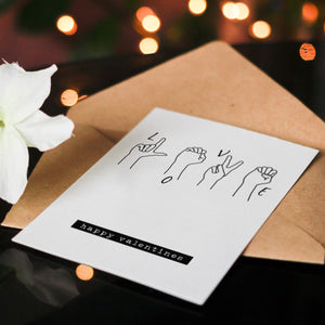 LOVE' in Sign Language Alphabet Greeting Card