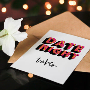 Date Night Token Greeting Card