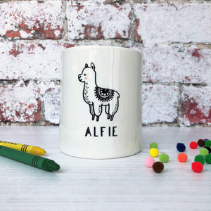 Monochrome Alpaca Money Box