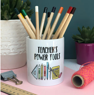 Teacher's Power Tools Pen Pot Desk tidy