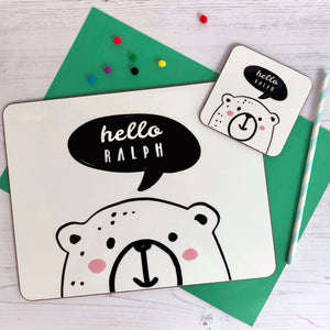 Hello Bear Personalised Enamel Mug
