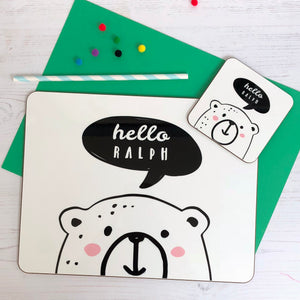 Hello Bear Coaster