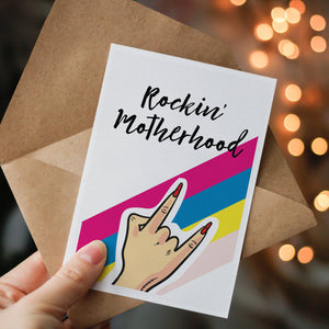 Rockin' Motherhood Greeting Card