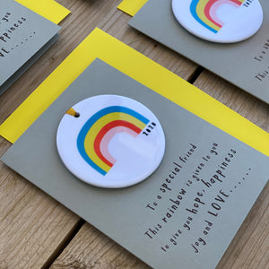 Rainbow Ceramic Keepsake Card