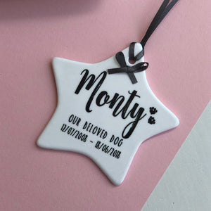 Pet Memorial Hanging Star Decoration