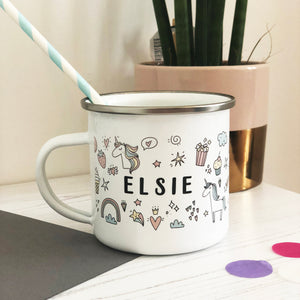 Sugar and Spice Enamel Mug