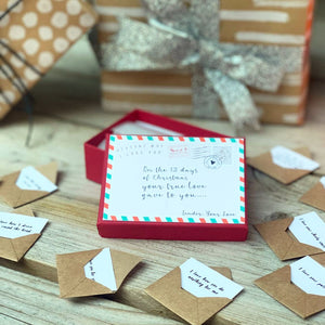 Christmas Reasons why I love you 12 Mini Love Letters Personalised  Gift
