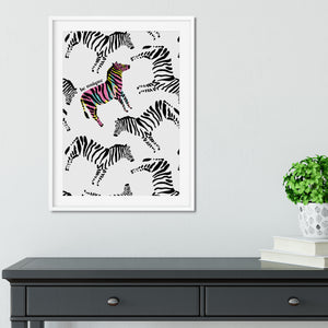 Zebra Be Unique Print