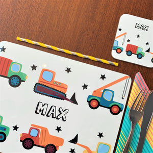 Diggers and Trucks Placemat