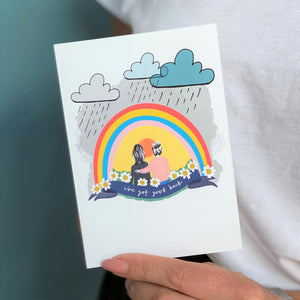Rainbow I've Got Your Back A6 Card