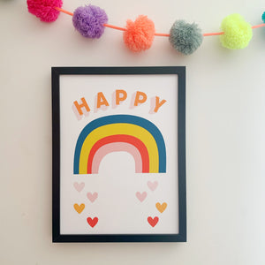 Happy Rainbow Print