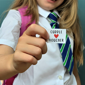 First Day of School Cuddle Voucher Greeting Card