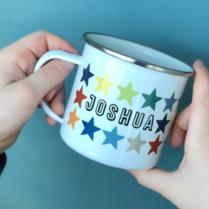 Star Personalised Enamel Mug