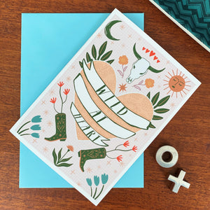 Wild At Heart Boho A6 Card