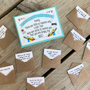 12 'Reasons Why I Love You Daddy' Mini Letters
