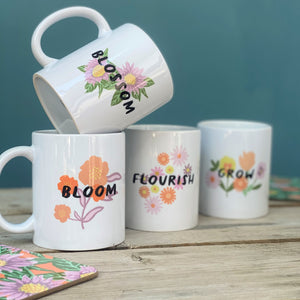 Empowering Flower China Mugs