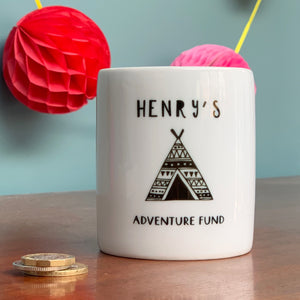 Adventure Fund Teepee Ceramic Money Box