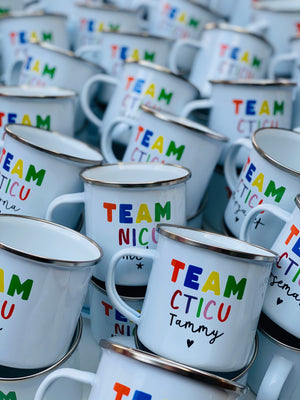 NHS TEAM ENAMEL MUG X 5 (Bespoke Listing for Tammy)