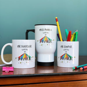 Teacher Shaping The Future Rainbow Travel Mug