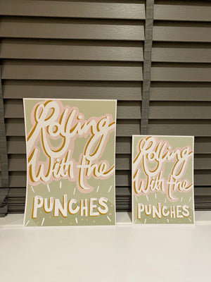 Rolling With The Punches Print