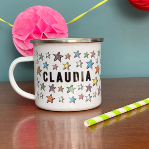 Bright Star Personalised Enamel Mug