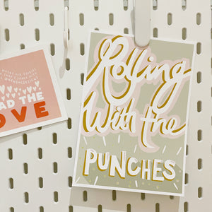 Rolling With The Punches Print A5 or A4 - FREE DOWNLOAD