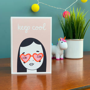 Keep Cool Girl Card
