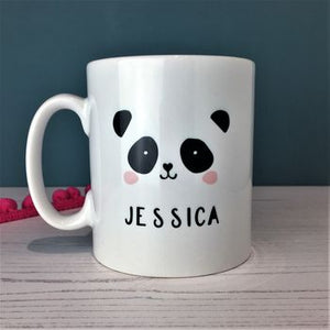 Monochrome Panda China Mug