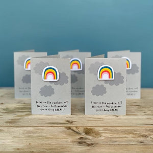 Multi Pack Rainbow 'You're Doing Great' Mini Cards