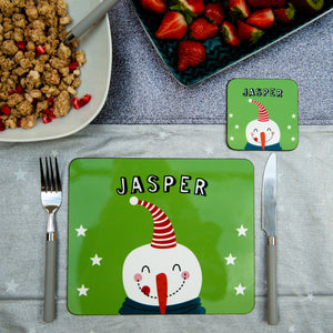 Christmas Placemat With Snowman