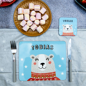 Christmas Placemat With Winter Bear