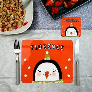 Christmas Placemat With Penguin