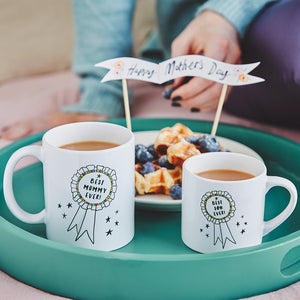Mummy And Me Mug Set With Rosette Design