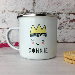 Cute Princess Enamel Mug