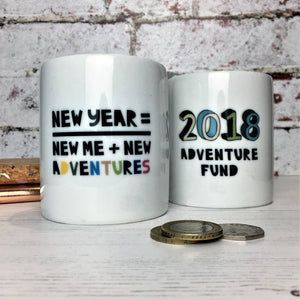Motivational New Year, New Me, New Adventures Money Box