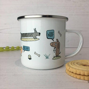 Dog Enamel Mug
