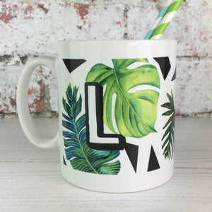 Initial Botanical China Mug