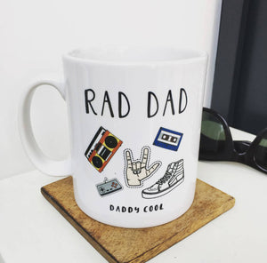 Rad Dad 'Daddy Cool' China Mug
