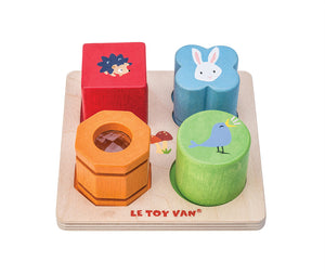 Wooden Sensory Shapes Tray Set