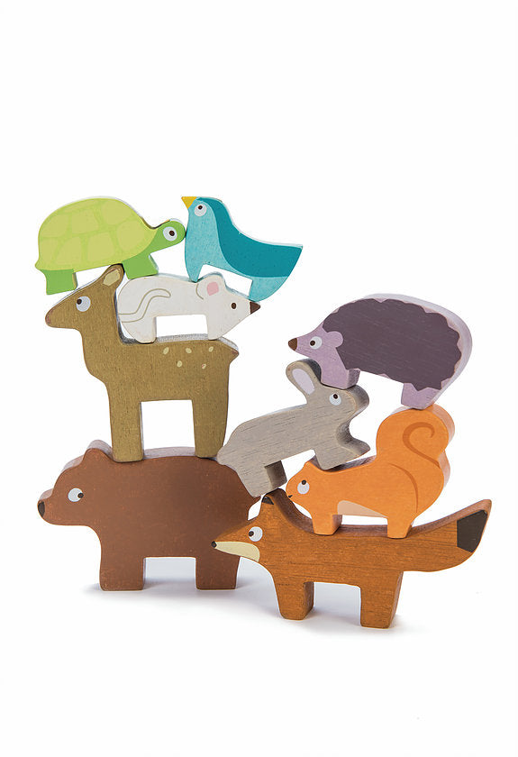 Wooden Forest Stacking Animals