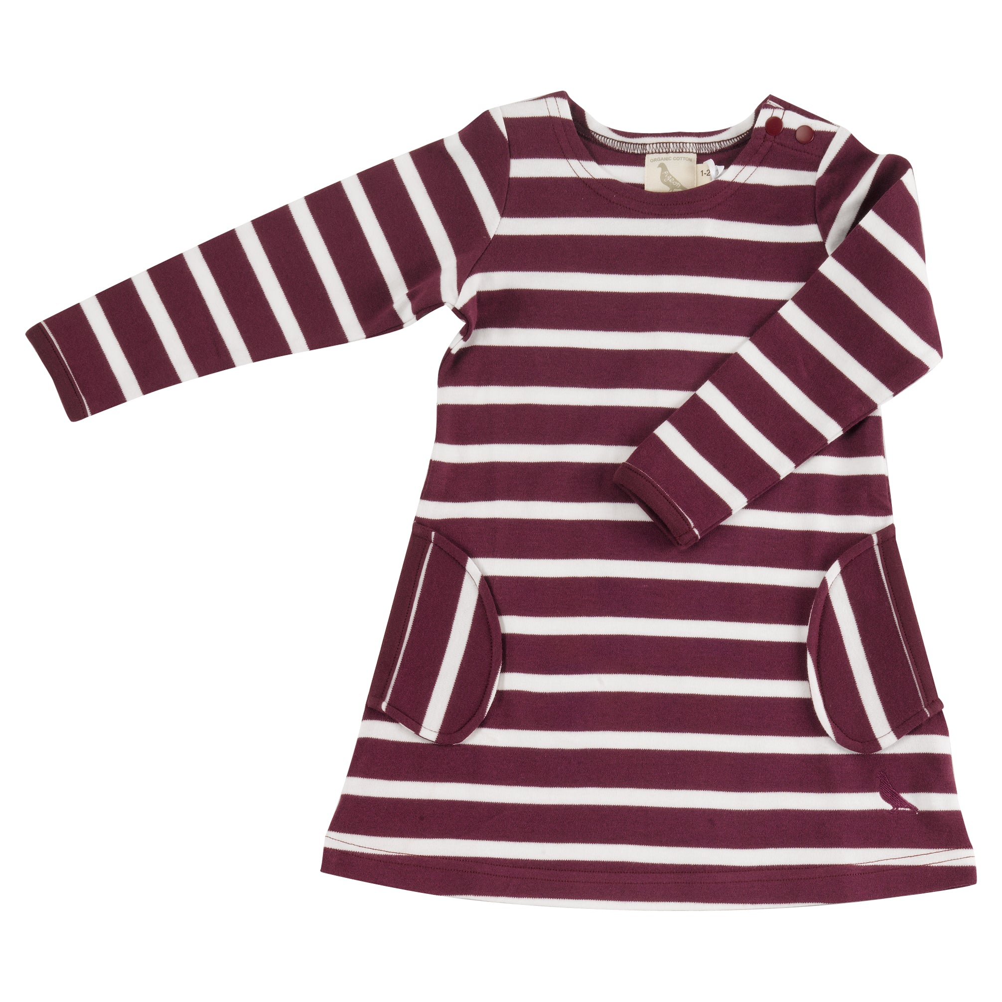 Breton Dress in Fig
