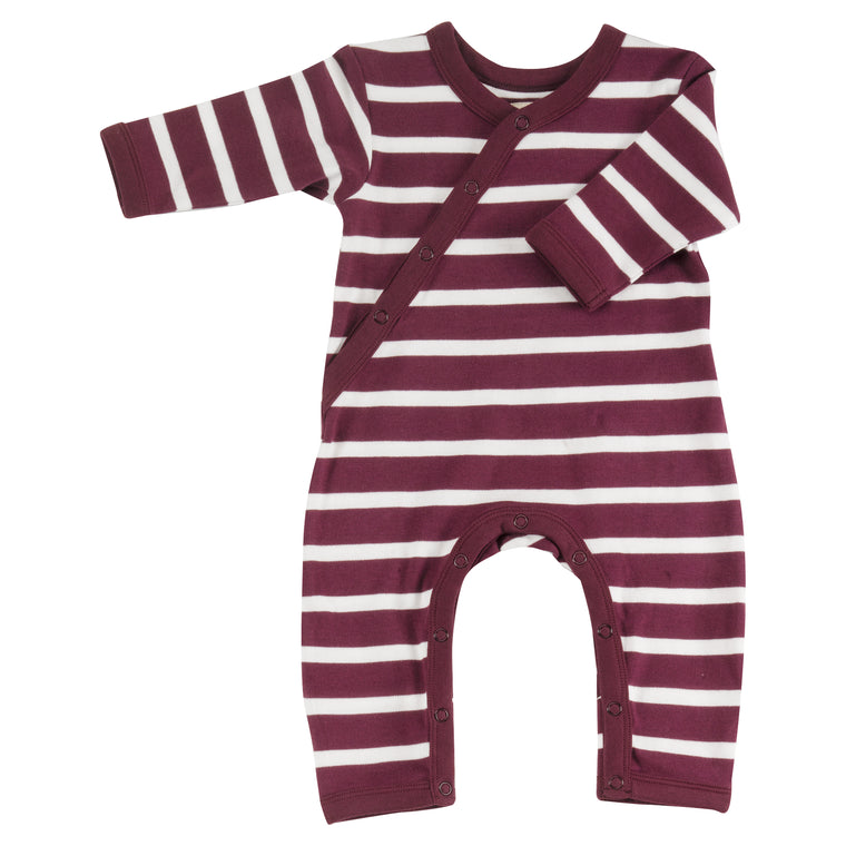Breton Stripe Romper in Fig