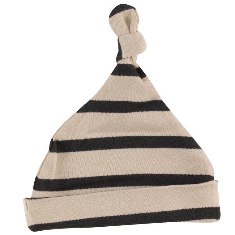 Breton Baby Knotted Hat  - Black/ Pumice